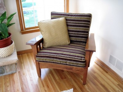 Recovered cushions and custom pillow