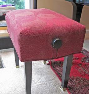 piano stool slipcover
