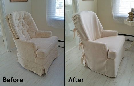 Casual armchair slipcover