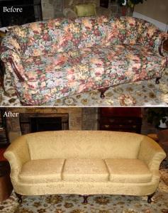 Award-winning slipcovered sofa
