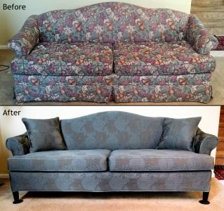 Barrel back sofa slipcover