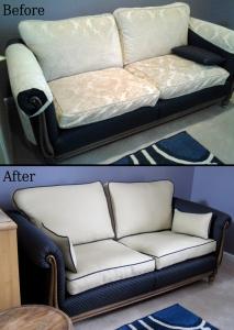slipcovered cushions