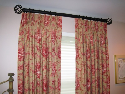 Pinch pleat drapes with Helser hardware
